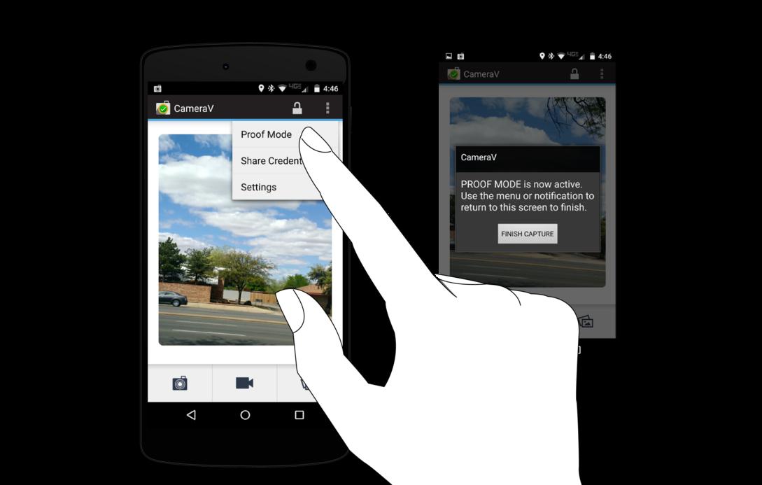 CameraV app and the InformaCam System